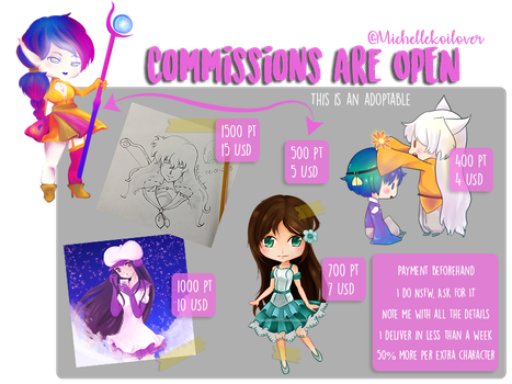 Commissions are open by MichelleKoilover