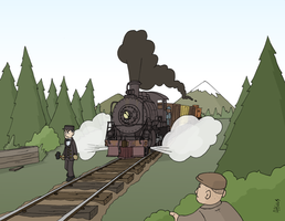 A Man and a Train by Atticus-W