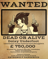 [COMMISSION] Wanted:Daisy by Kreative-Confusion