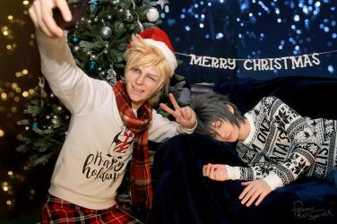 Final Fantasy XV - when Noct overslept Christmas 2 by Krisild