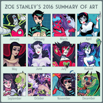2016 Summary of Art by ZoeStanleyArts