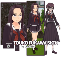 Touko Fukawa Skin for YANDERE SIMULATOR~ by cleandesu