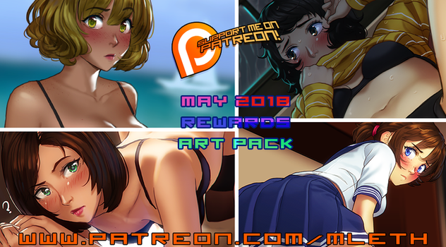 May Patreon 2018 Art Pack! by MLeth