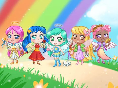 Chibi Angel Dress Up Game by Nuvvola