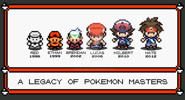 Pokemon Trainers Through the Ages (Gents) by Usagi-CRI