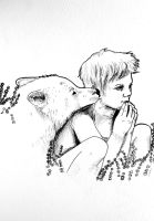 boy and ghost by Moy-a