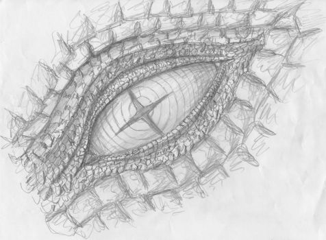 Dragon Eye - Sketch by omercan1993