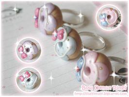 Bow Donut Rings by Fluffntuff
