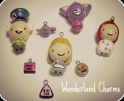 Alice in Wonderland Charms by SabrinaDeeBerry