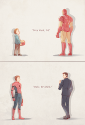 Spider Man : Homecoming and Iron Man 2 by Mushstone