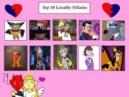 My Top 10 Lovable Villains by Toongirl18