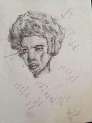 Sketch: African facial features study by 52HertzWhale