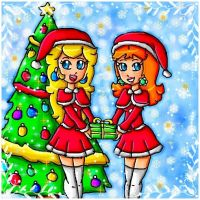 cute santa's helpers by ninpeachlover