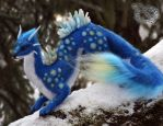 Needle felted fantasy dragon. by YuliaLeonovich