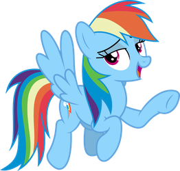 Mlp Fim Rainbow Dash (...) vector #3 by luckreza8