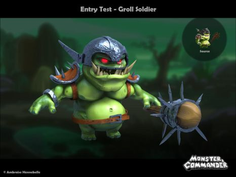 Monster And Commander : Groll Soldier by Ambroise-H