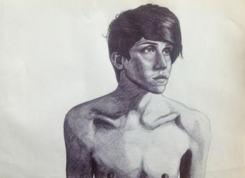 Biro drawing fro art coursework by bengray94