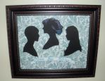 Three Daughters - Silhouette by Sidhe-Etain