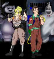 GHOSTBUSTED THEN AND NOW by ArtAsylum1980
