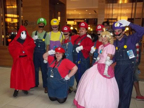 Dragon*con 2013 Mario Group by GoddessChelle