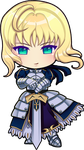 Fate Saber Chibi by Rythea