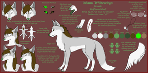 Okami Reference Sheet 2012[OLD] by OkamiWhitewings