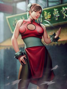 Chunli Red costume by Moonarc