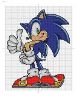 Sonic Cross Stitch Pattern by ChandrakantaAvani