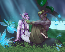 Commission:  An Evening in Hyjal by MischiArt