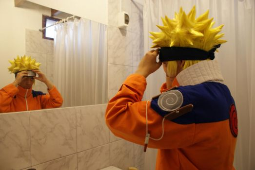 Naruto in the mirror by Siashy