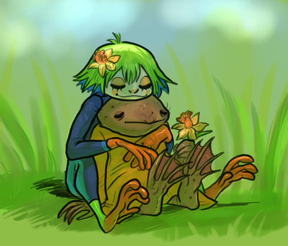 frog girlfriends by Spoonfayse