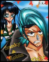 OP.Franky and Robin by bekacca