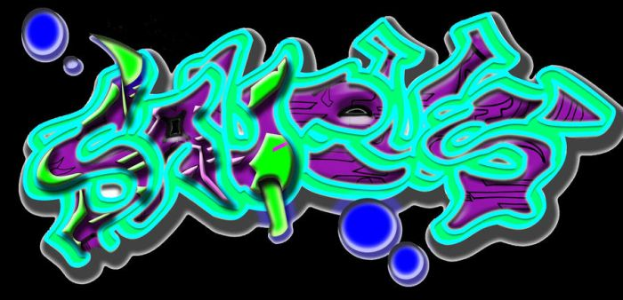 first try at graff in photosho by thestefan