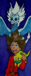 The Dragon Prince Bookmark by InkArtWriter