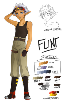 J+DII Character Design: Flint by DCRoleplays