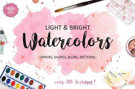Watercolor Textures. Light and Bright by GraphicAssets