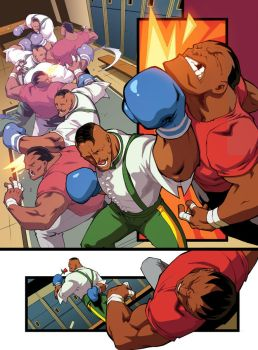 Dudley vs. Balrog by edwinhuang
