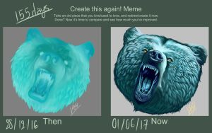 Draw This Again - Spectral Bear 155 Days between by Vasinetic