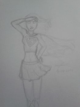 Supergirl Sketch by emiliano47