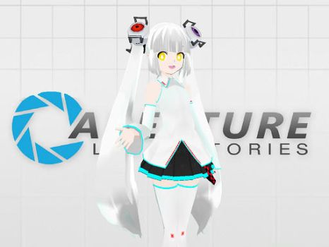Apature Inc. GlaDos MMD by kitty11123