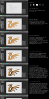 Splayed Feathers Tutorial by AprilSilverWolf