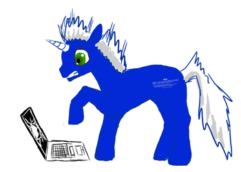 Blue Screen Of Death Pony by Azerune