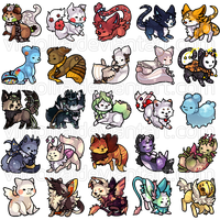 Toyhouse Buttons by Viidoll