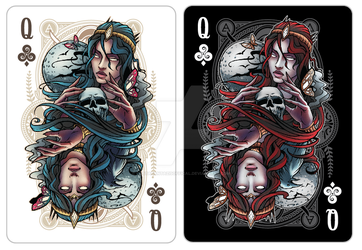 Queen Of Clubs - Nyx by SynedrionPPC