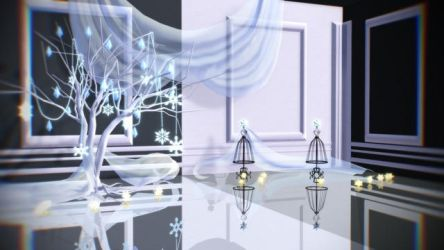 [MMD/DL] Snowflake stage! [stage/dl] by BrightShadowMMD