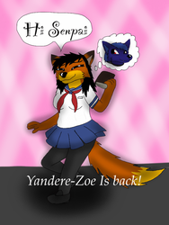 Yandere-Zoe has returned (gif) by ZachMFKAttack