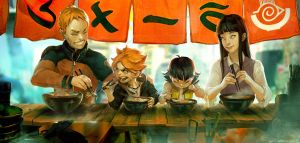 Naruto fan art - Ramen stand by Benlo