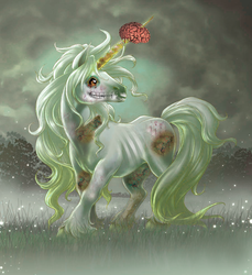 zombie unicorn by jennuhhhhh