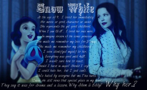 Once Upon A Time: A Snow White confession by MissJulyFarraday