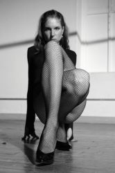 Dancer in Black Fishnet by grandart
